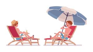 image dessin bain de soleil