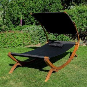Bain de soleil bois textilène